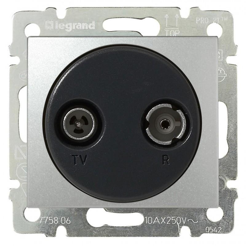 Розетка TV-RD проходная, алюминий 770134 LG