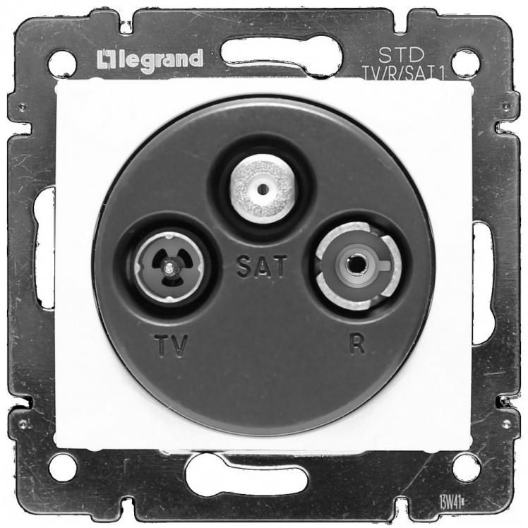 Розетка TV-RD-SAT проходная, белый 774437 LG