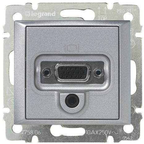 Розетка VGA HD15 мама + мини-джек 3.5мм, алюминий 770282 LG