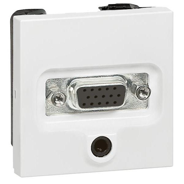 Розетка VGA HD15 мама + мини-джек 3.5мм, белый 770082 LG