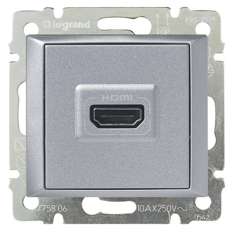 Розетка мультимедийная Audio/video HDMI, алюминий 770285 LG
