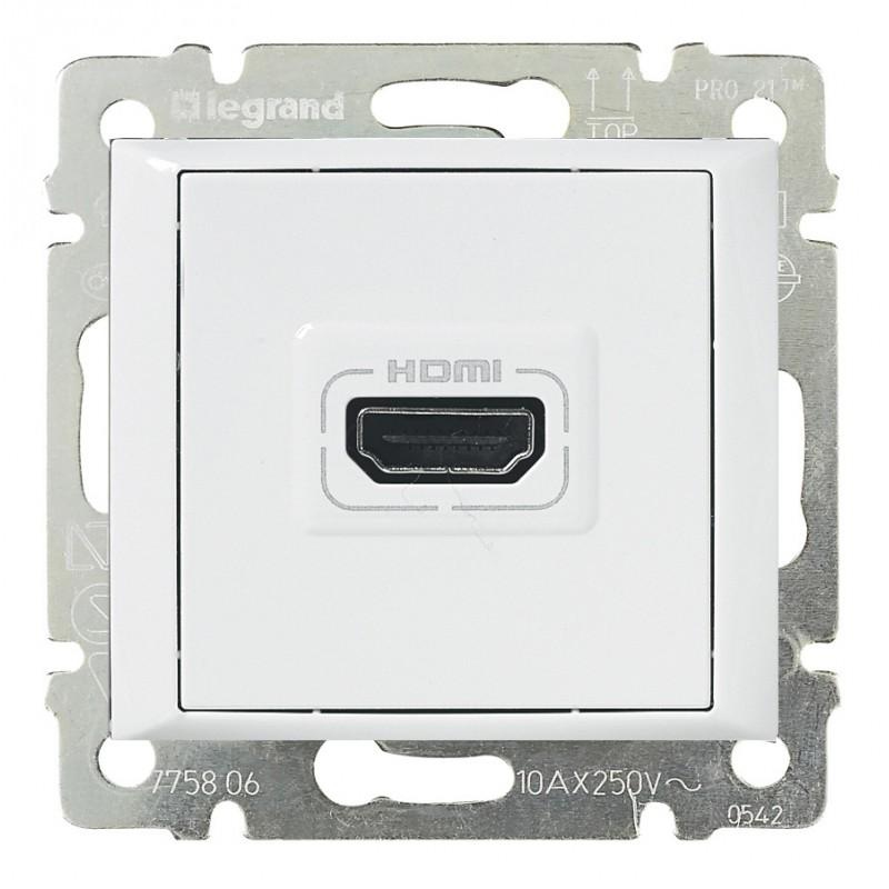 Розетка мультимедийная Audio/video HDMI, белый 770085 LG