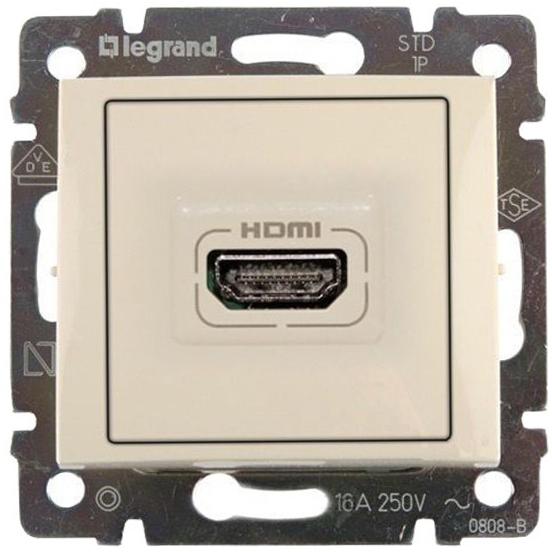 Розетка мультимедийная Audio/video HDMI, слоновая кость 774185 LG