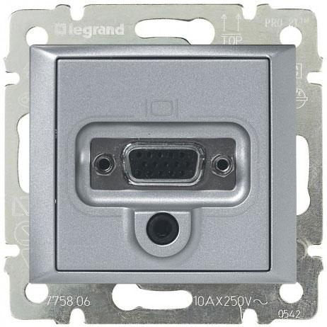Розетка мультимедийная видео HD15, алюминий 770283 LG
