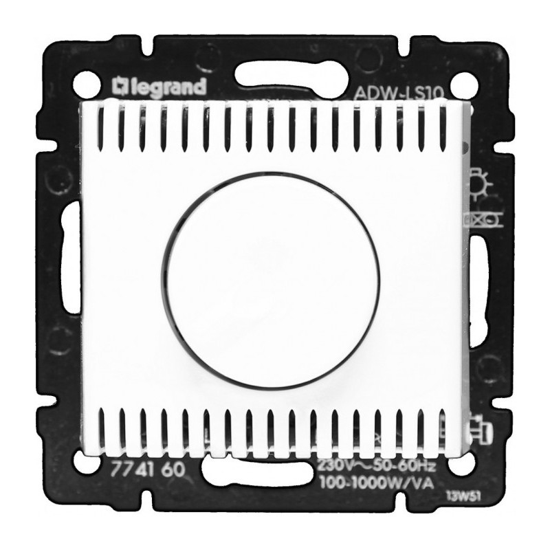 Светорегулятор поворотный 100-1000Вт, белый 770060 LG