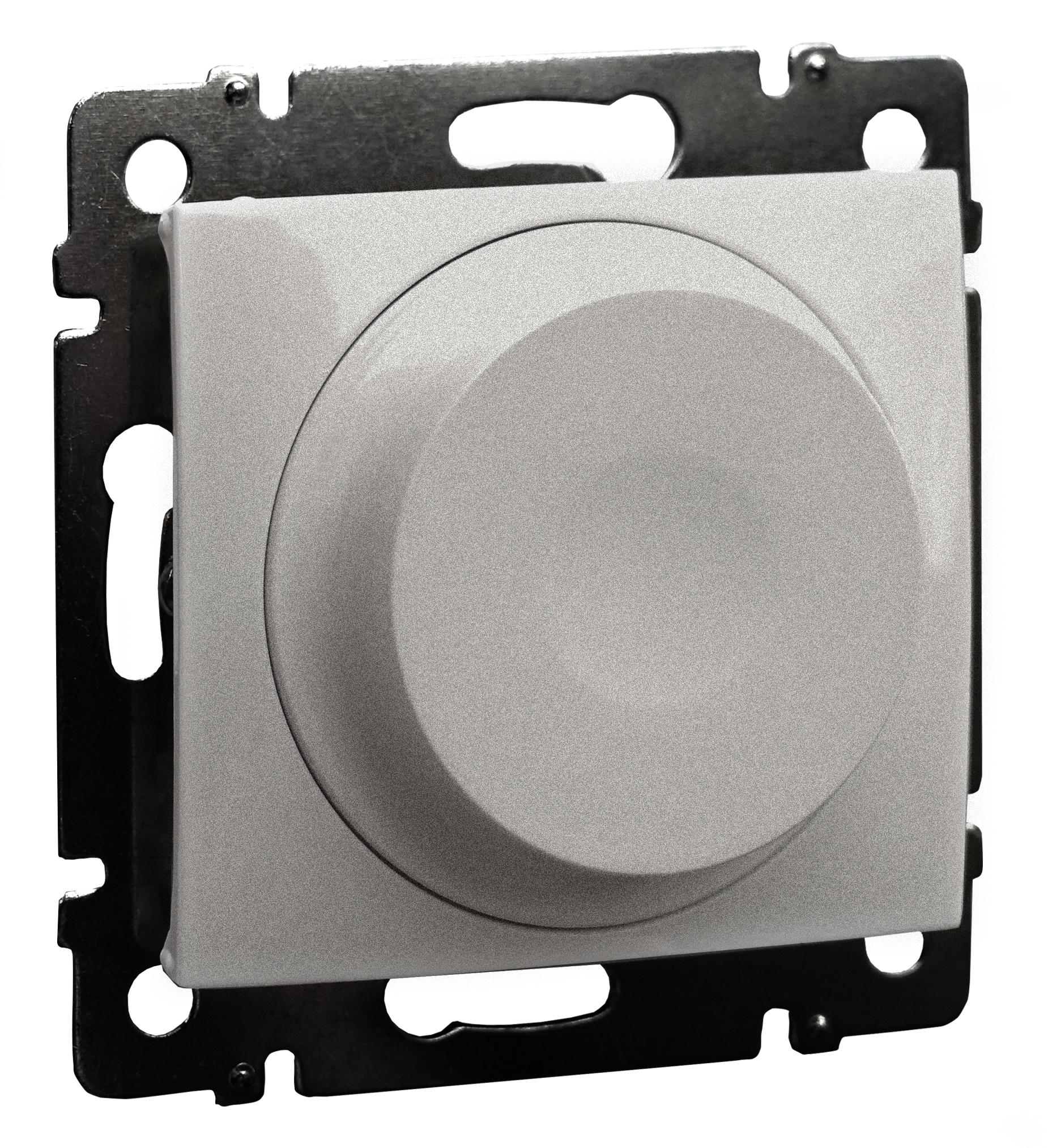 Светорегулятор поворотный LED, без нейтрали, алюминий 770263 LG