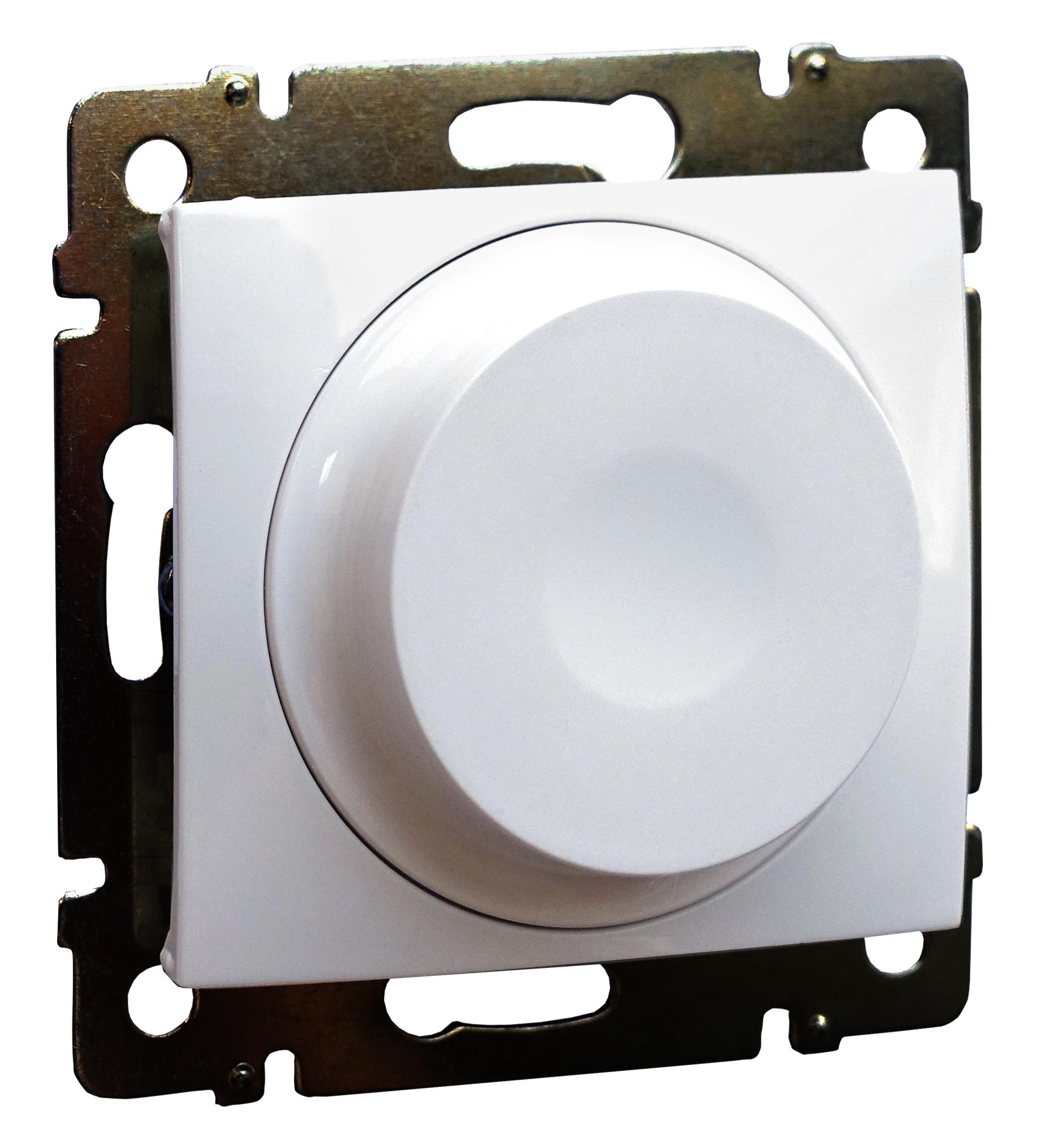 Светорегулятор поворотный LED, без нейтрали, белый