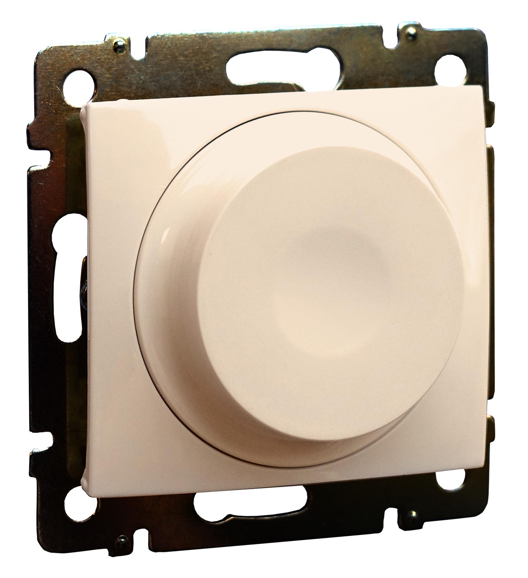 Светорегулятор поворотный LED, без нейтрали, слоновая кость 774163 LG