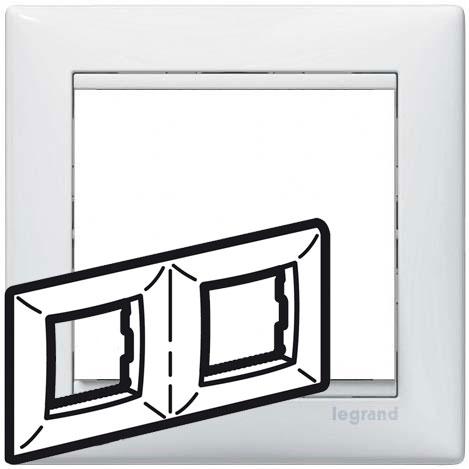 Рамка 2-я, белый, универсальная 774452 LG