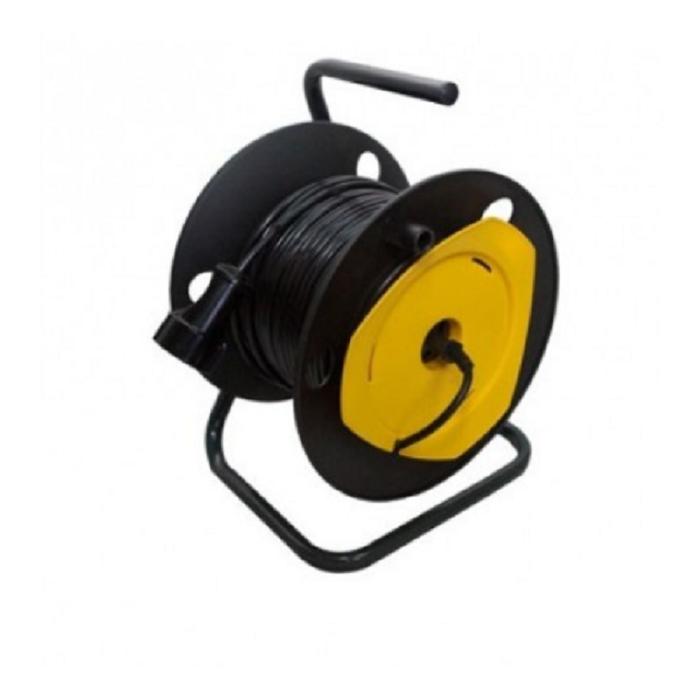 Удлинитель на катушке для газонокосилки провод 2х0,75 (50 метров)