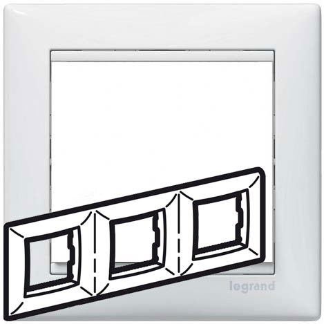 Рамка 3-я, белый, универсальная 774453 LG