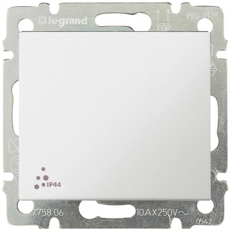 Выключатель 1-но клавишный с 2-х мест (переключатель) ip44, белый 774206 LG