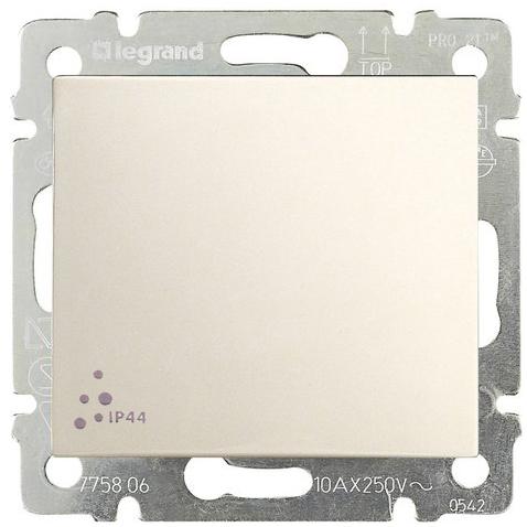 Выключатель 1-но клавишный с 2-х мест (переключатель) ip44, слоновая кость 774106 LG