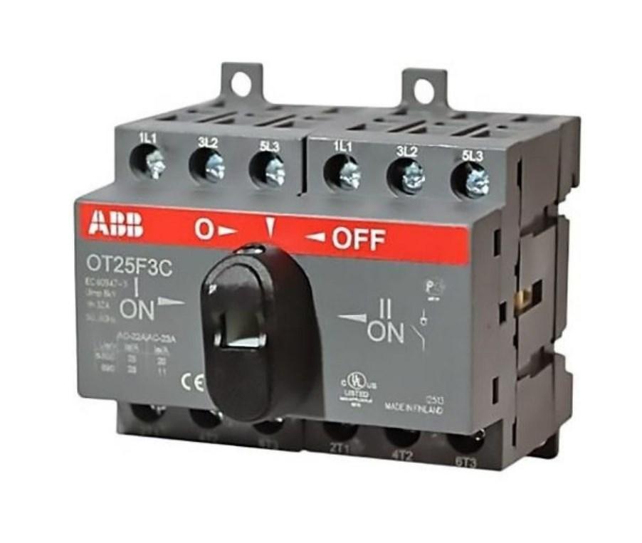 Реверсивный выключатель нагрузки АВВ OT25F3C 3P 25A