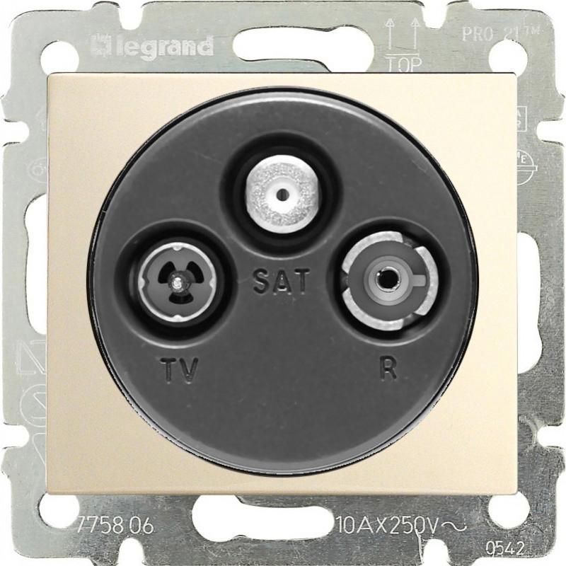 Розетка TV-RD-SAT простая, слоновая кость 774335 LG