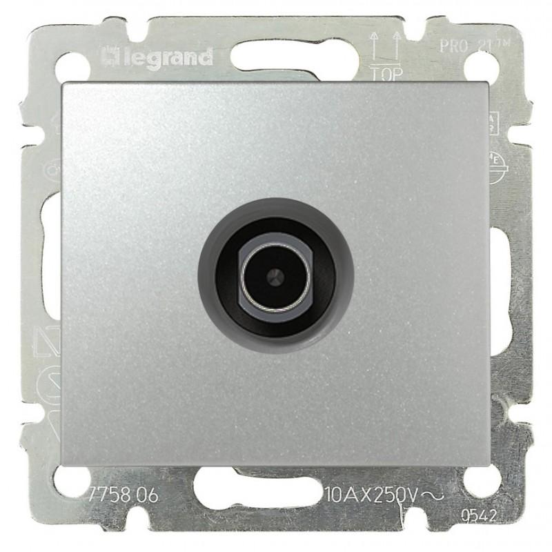 Розетка TV/SAT простая, алюминий 770129 LG