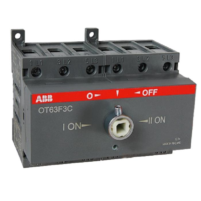 Реверсивный выключатель нагрузки АВВ OT63F3C 3P 63A